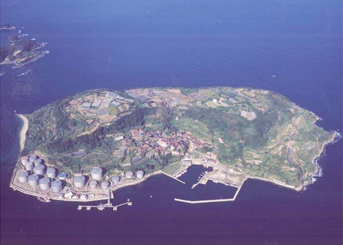 六連島全景画像提供 下関市上下水道局