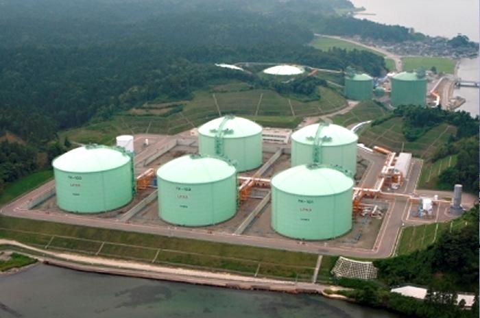 七尾国家石油ガス備蓄基地出典 独立行政法人 石油天然ガス・金属鉱物資源機構 HP
