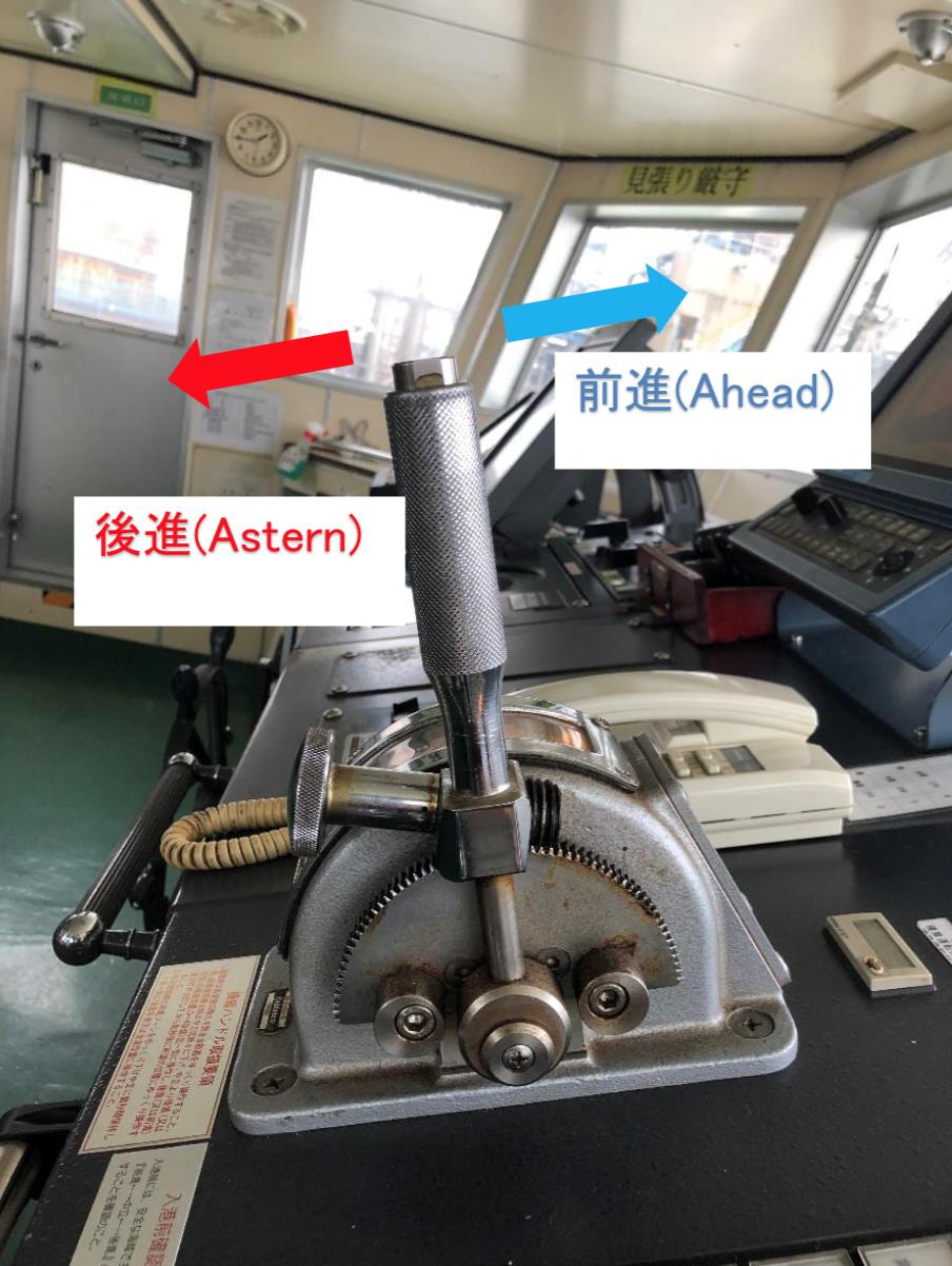 船橋のエンジンテレグラフ